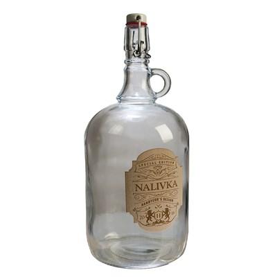 """Бутылка """"Венеция"""" 2 л с этикеткой из шпона """"Наливка"""" - фото 10887"""
