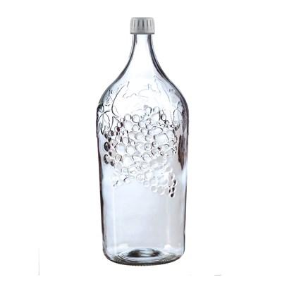 Бутылка 2 литра с виноградом прозрачное стекло - фото 4560
