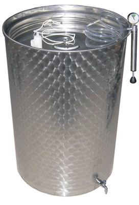 Емкость нерж. с пневмокрышкой 300 литров - фото 5095