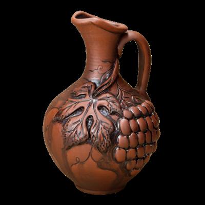 Кувшин грузинский 1,8 литра виноград - фото 5255