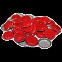 Кронепробки Италия, Красные, 200 шт (29 мм)