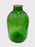 Банка 10 литров с крышкой зеленое стекло