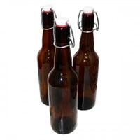Бутылка с бугельной пробкой 0,75 литра темное стекло