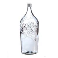 Бутылка 2 литра с виноградом прозрачное стекло