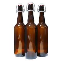 Бутылка с бугельной пробкой 0,5 литра темное стекло