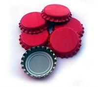 Кронепробки Италия, Красные, 200 шт (26 мм)