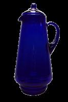 Кувшин 1,7 литра синее стекло без декора