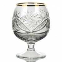 Набор бокалов для бренди отв. золото хрусталь 0,3 л