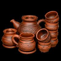 Чайный сервиз с рисунком на 6 персон