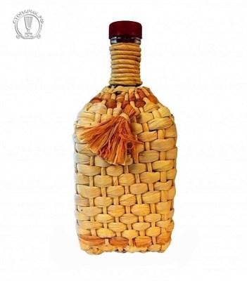 """Бутылка """"Штоф"""" 1,2 л оплетенная листьями кукурузы - фото 10866"""
