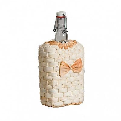 """Бутылка """"Малек"""" 0,75 л оплетенная листьями кукурузы - фото 10867"""