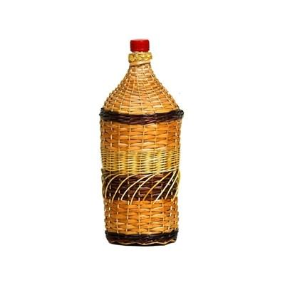 """Бутылка """"Виноград"""" 2 л оплетенная прутьями лозы - фото 10873"""