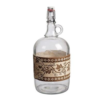 """Бутылка """"Венеция"""" 2 л с этикеткой из бересты - фото 10885"""