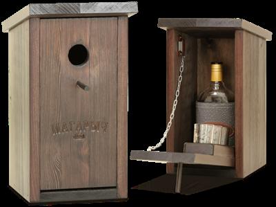 Бар скворечник Магарыч венге (бутылка+чехол+3 стопки) - фото 11077