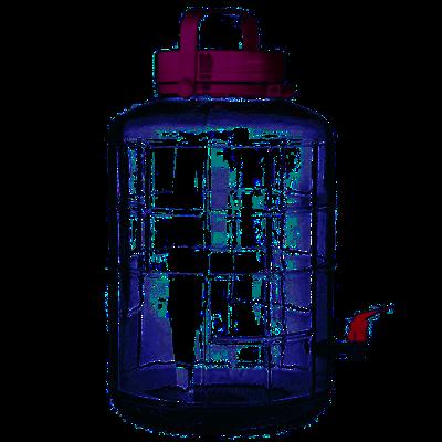 Банка с фиолетовой крышкой с краном 16 л - фото 15693