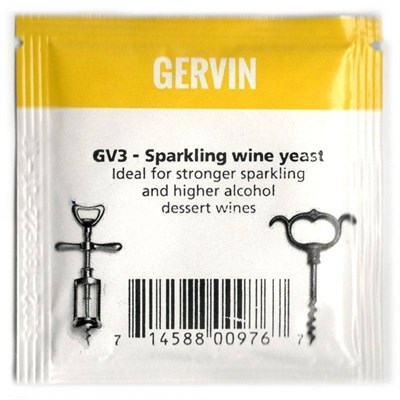 "Винные дрожжи Gervin ""Sparkling Wine GV3"", 5 г - фото 21321"