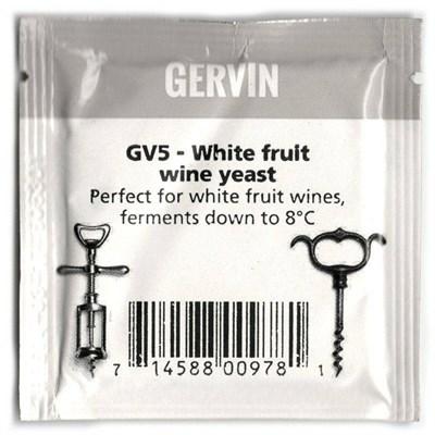 """Винные дрожжи Gervin """"White Fruit Wine GV5"""", 5 г - фото 21329"""
