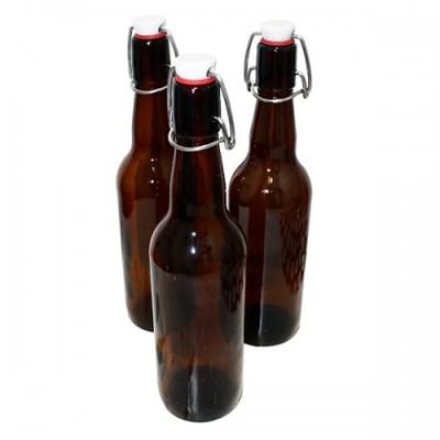 Бутылка с бугельной пробкой 0,75 литра темное стекло - фото 4534