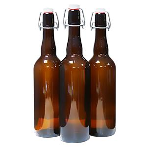 Бутылка с бугельной пробкой 0,5 литра темное стекло - фото 5584