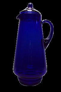 Кувшин 1,7 литра синее стекло без декора - фото 7116
