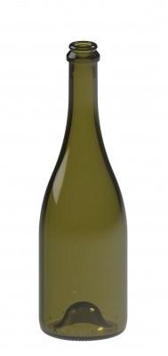 Бутылка для шампанского 0,75 CRU оливковая - фото 7152