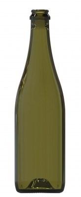 Бутылка для шампанского 0,75 Классическая оливковая - фото 7153