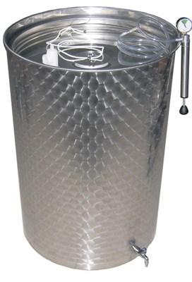 Емкость нерж. с пневмокрышкой 400 литров - фото 7181