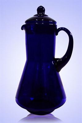 Кувшин 1,2 литра синее стекло - фото 8365