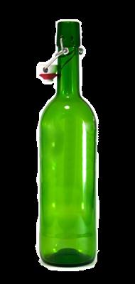 Бутылка с бугельной пробкой 0,75 литра зеленое стекло - фото 8728