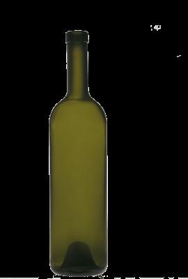 Бутылка винная 0,75 л Бордо оливковая - фото 8748