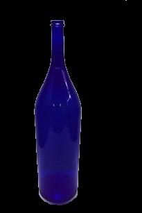 """Бутыль """"Четверть"""" 3 литра синее стекло - фото 8751"""