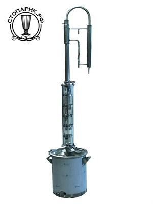 """Дистиллятор """"Феникс"""" Зенит с колпачковой колонной (5 тарелок) NEW 25 литров - фото 9586"""