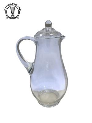 Кувшин 1,6 литра прозр. стекло без декора - фото 9664