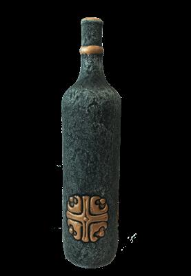 """Бутылка грузинская глиняная """"Крест"""" - фото 9916"""