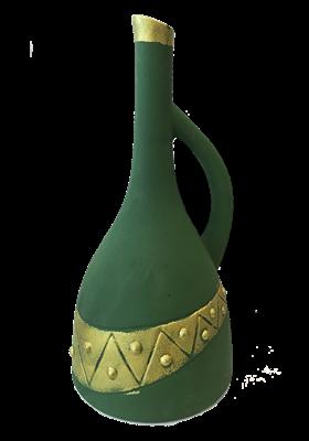 """Бутылка грузинская глиняная """"Египет"""" - фото 9921"""