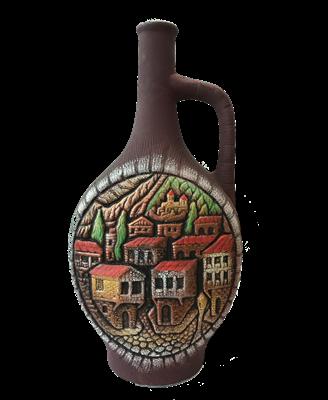 "Бутылка грузинская глиняная ""Старый город"" - фото 9922"