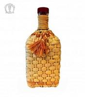 """Бутылка """"Штоф"""" 1,2 л оплетенная листьями кукурузы"""
