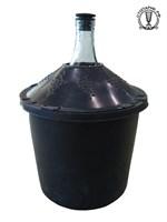 Бутыль в пластиковой корзине 25 л с пробкой