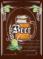 """Этикетка """"Пиво"""" темная"""