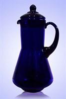Кувшин 1,2 литра синее стекло