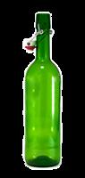 Бутылка с бугельной пробкой 0,75 литра зеленое стекло