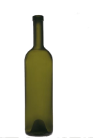 Бутылка винная 0,75 л Бордо оливковая