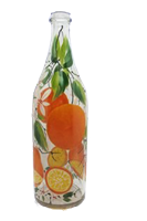 Бутылка 1 литр прозр. стекло ручная роспись