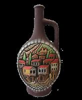 "Бутылка грузинская глиняная ""Старый город"""