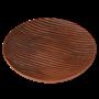 Блюдо 27 см с бороздками глазированное - фото 7536