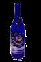 Бутылка 1 литр синее стекло ручная роспись - фото 8743