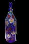 """Бутыль """"Четверть"""" 3 литра синее стекло ручная роспись - фото 8756"""